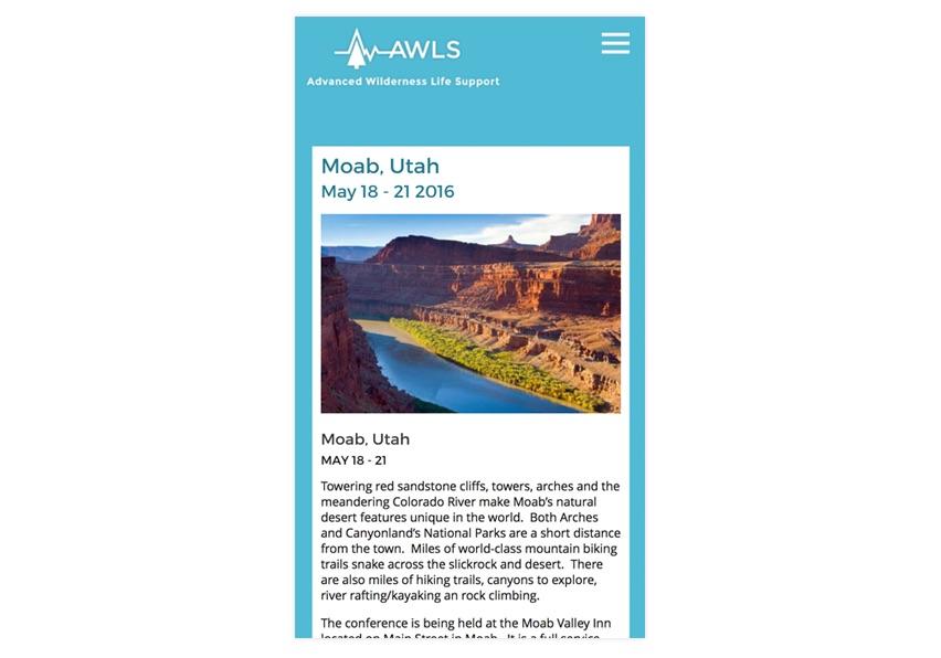 AWLS Acclaro Design Mobile View Course Detail
